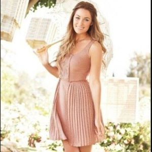 Lauren Conrad Polka Dot Sleeveless Dress size 10